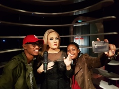 Met Adele at Madame Tussauds.