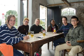 Silindokuhle hlangu with some locals from the University of Amsterdam.